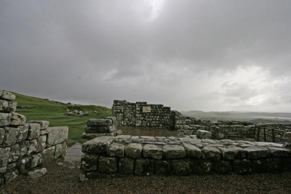 Picture of Only walls and stones remain of the roman settlement of VercoviciumHousesteads - United Kingdom