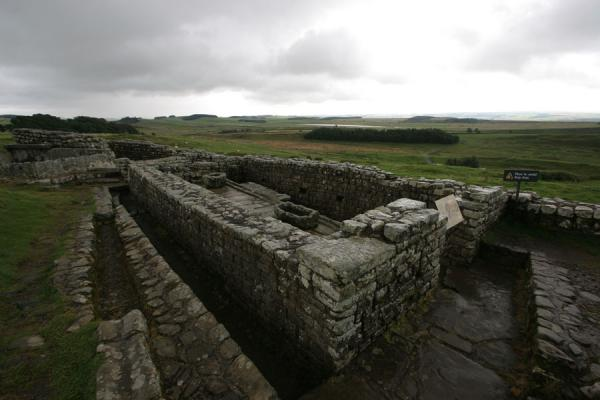 Picture of Best preserved Roman latrines in Britain to be found at VercoviciumHousesteads - United Kingdom