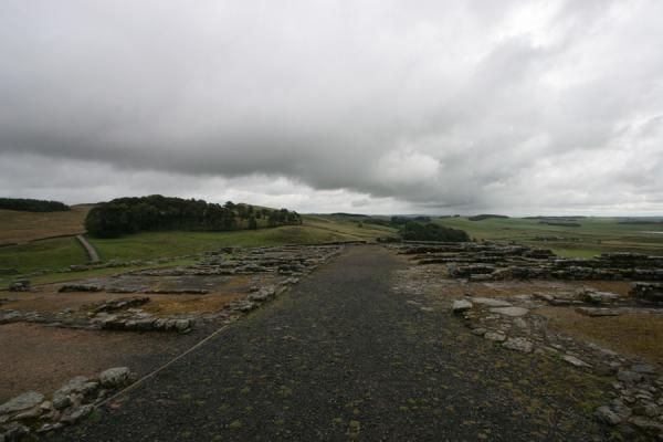 Picture of Overview of the barracks of Vercovicium fortHousesteads - United Kingdom