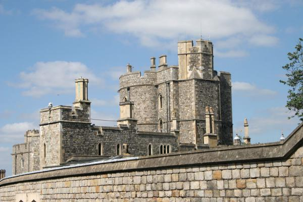 Part of Windsor Castle seen from outside the wall | Windsor Castle | United Kingdom