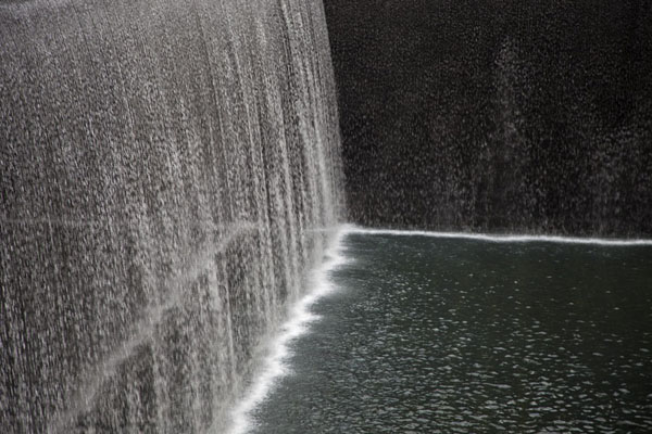 The waterfall of the South Pool | 9/11 Memorial | U.S.A.