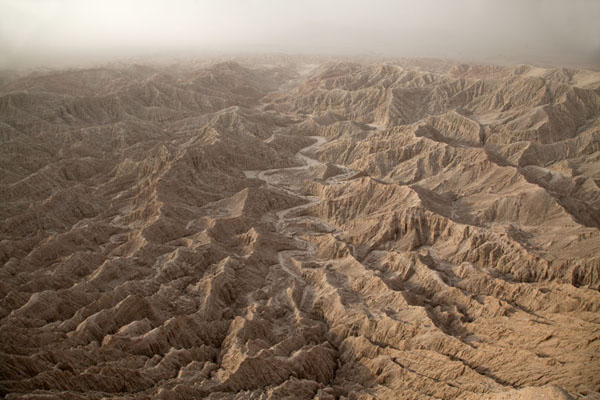 Picture of Anza-Borrego Desert State Park (U.S.A.): Early morning view of the badlands at Font's Point