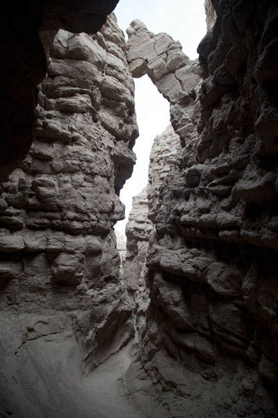Picture of Anza-Borrego Desert State Park (U.S.A.): Shadow provided by the narrow Slot canyon