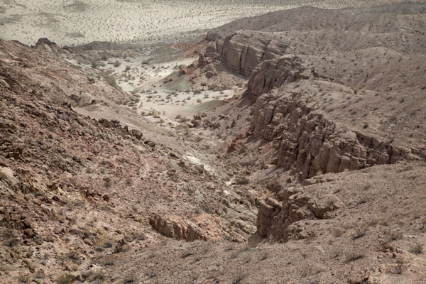 Picture of Anza-Borrego Desert State Park (U.S.A.): Landscape of barren canyons near the Slot
