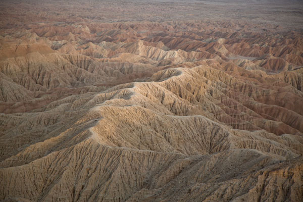 Picture of Anza-Borrego Desert State Park (U.S.A.): The badlands turning orange at sunset