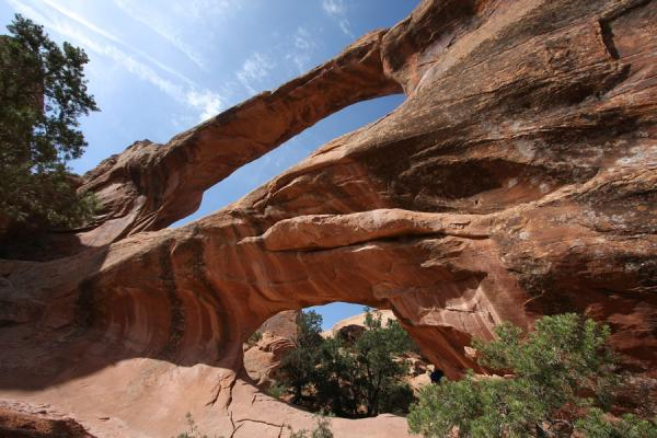Double O Arch seen from below | Arches National Park | U.S.A.