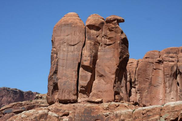 The Three Penguins rock formation | Arches National Park | United States