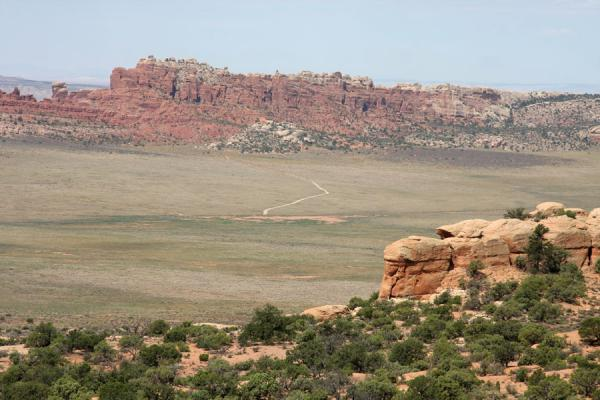 Landscape seen from Double O Arch | Arches National Park | United States