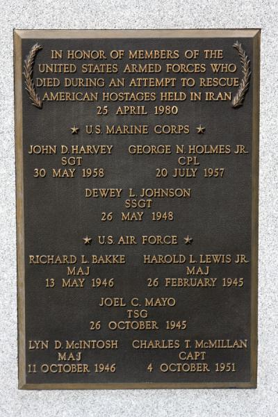 Memorial stone for the US marines who died trying to liberate hostages in Iran | Arlington National Cemetery | U.S.A.