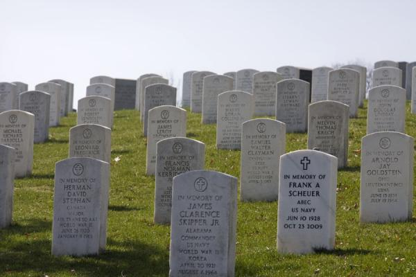 Tombstones covering a hill on Arlington | Arlington National Cemetery | U.S.A.