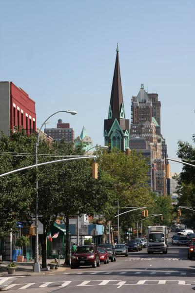 Foto van Court Street is one of the main streets in Brooklyn HeightsBrooklyn Heights - Verenigde Staten