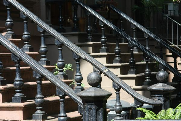 Foto van Close-up of stairs on Carroll StreetBrooklyn Heights - Verenigde Staten