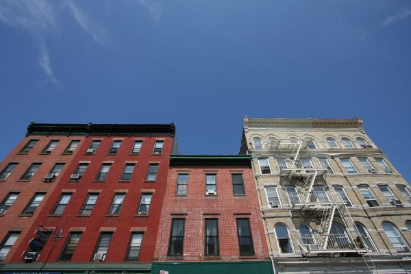 Foto van Row of houses typical for Brooklyn HeightsBrooklyn Heights - Verenigde Staten