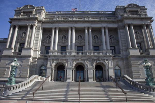 Picture of Capitol Hill (U.S.A.): The impressive facade of the Library of Congress