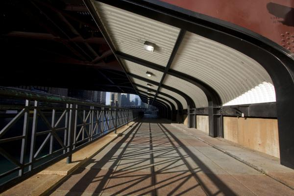 Underpass at Columbus Drive is part of the Riverwalk | Chicago Riverwalk | U.S.A.