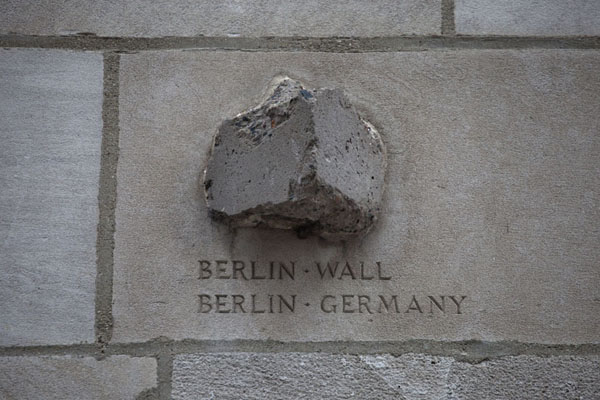 The wall itself is almost completely gone, but a piece of the Berlin Wall can still be found in Chicago | Chicago Tribune stones | U.S.A.