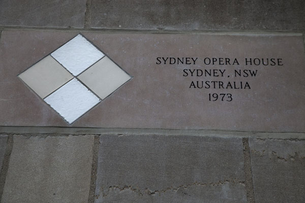 Tiles from the Opera House, Sydney | Chicago Tribune stones | U.S.A.