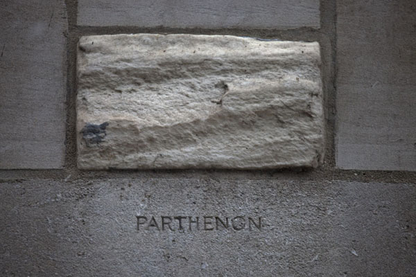 Foto di Block of marble from the Parthenon in AthensChicago - Stati Uniti