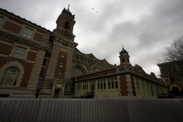 Picture of Main building on Ellis Island seen from behind