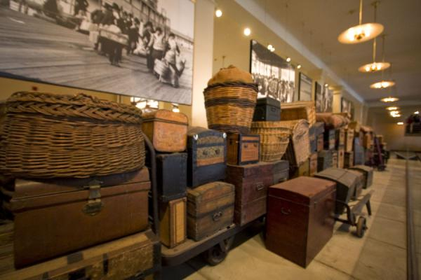 Immigrants often carried all their belongings with them | Ellis Island | U.S.A.