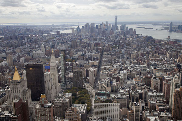 View towards Lower Manhattan from the Observation Deck of the Empire State Building | Empire State Building | 美国