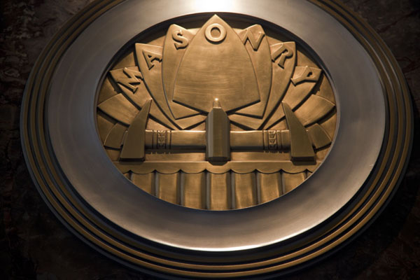 Ornament in the lobby of the Empire State Building | Empire State Building | Stati Uniti