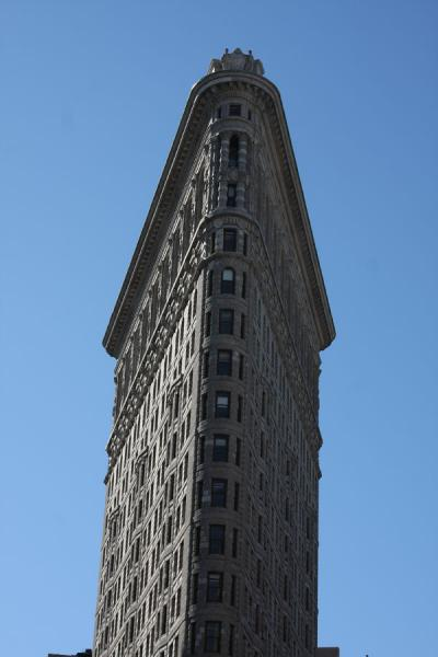 Foto van The triangular shape of Flatiron BuildingFlatiron Building - Verenigde Staten