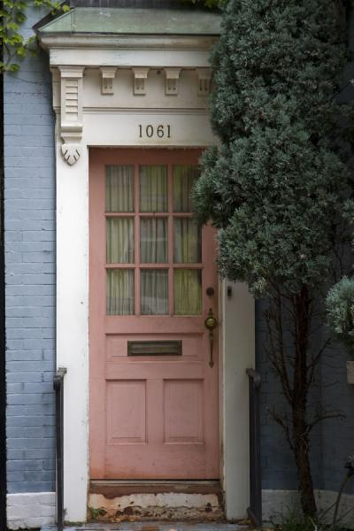 Picture of Pink frontal door in a house in Georgetown