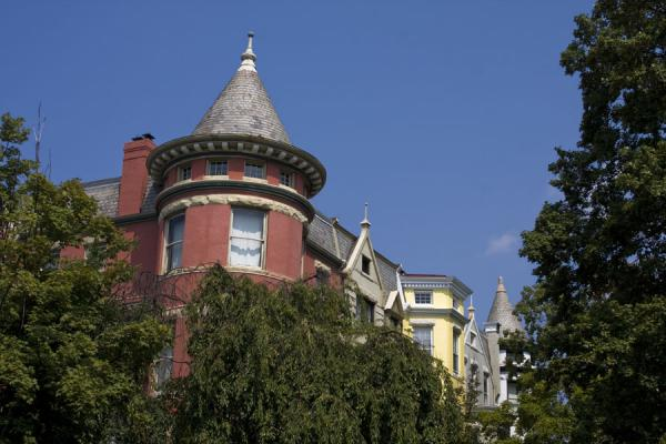 Round towers are a common feature in Georgetown houses | Georgetown | U.S.A.