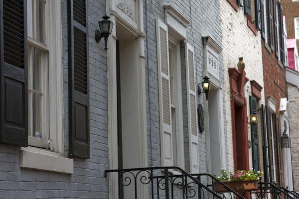 Portals of houses in Georgetown | Georgetown | U.S.A.