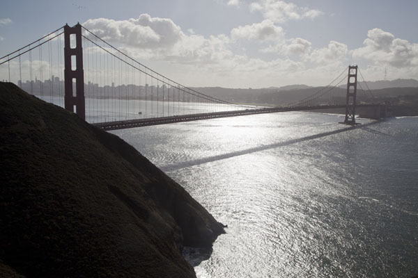 Morning view over the Golden Gate from a viewpoint on the way to Point Bonita | Golden Gate Bridge | United States