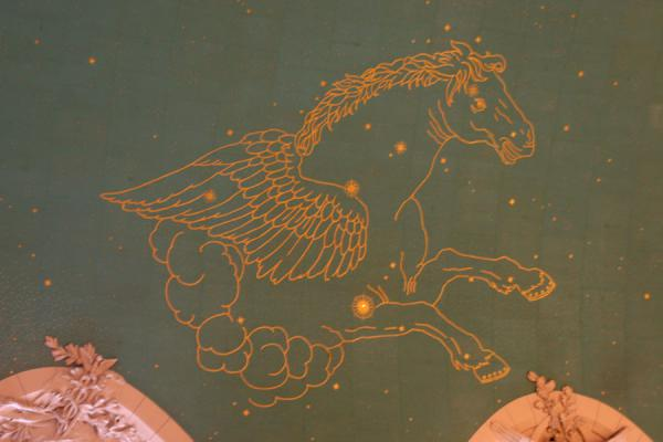 Picture of Grand Central Terminal: one of the painted figures on the ceiling of the central hall
