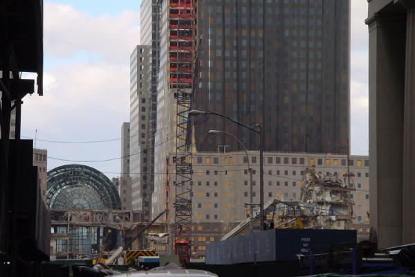 Note the round entrance of a vanished skyscraper | Ground Zero WTC New York | U.S.A.