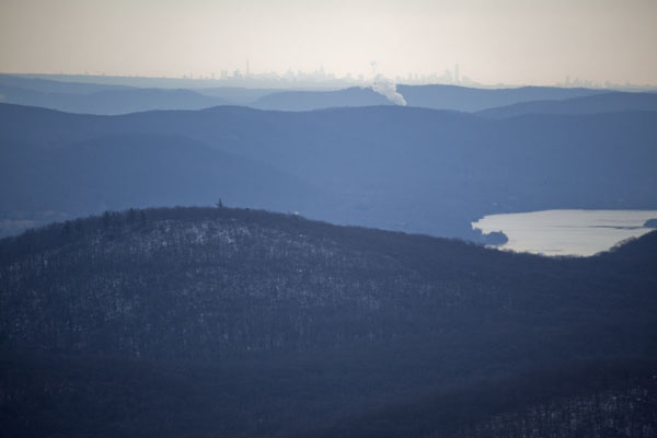 Picture of Hudson Highlands (U.S.A.): Manhattan in the distance with the highlands and the Hudson river in the foreground