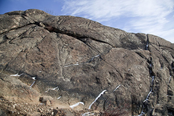 Picture of Rocky outcrop at the westside of Breakneck RidgeHudson Highlands - U.S.A.