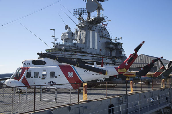 Picture of Intrepid Sea Air Space Museum (U.S.A.): Helicopters parked on the Intrepid