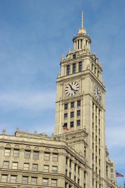 Clock tower of Wrigley building | Magnificent Mile | U.S.A.