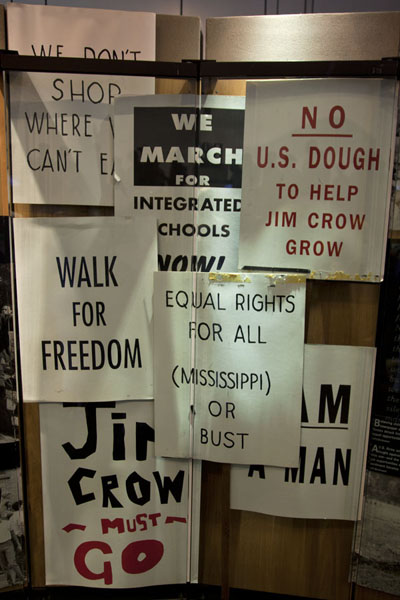 Picture of Martin Luther King Jr  Historic Site (U.S.A.): Some of the banners used in demonstrations in the 1960s