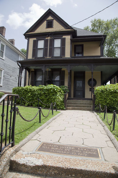 Picture of Martin Luther King Jr  Historic Site (U.S.A.): The house where Martin Luther King was born on January 15, 1929 can be visited