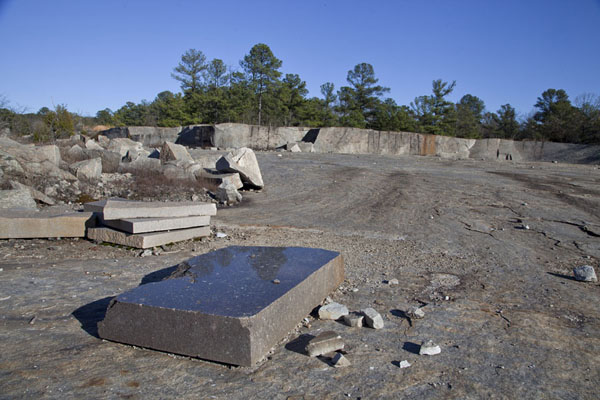 Slabs of granite in a quarry near Mile Rock | Mount Arabia Nature Preserve | U.S.A.