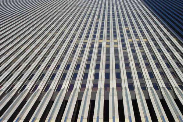 One of the buildings from below | World Trade Center NYC | U.S.A.