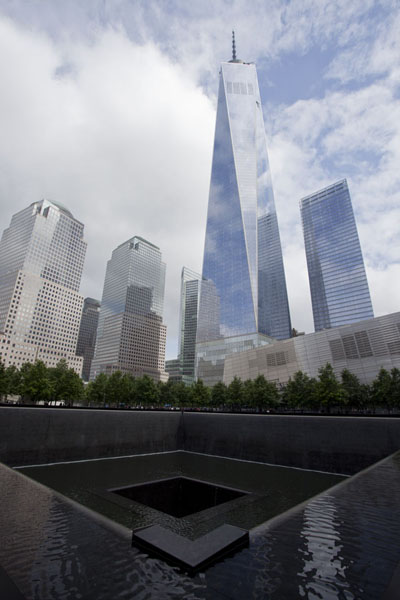 One World Trade Center rising above the 9/11 Memorial | One World Trade Center | U.S.A.