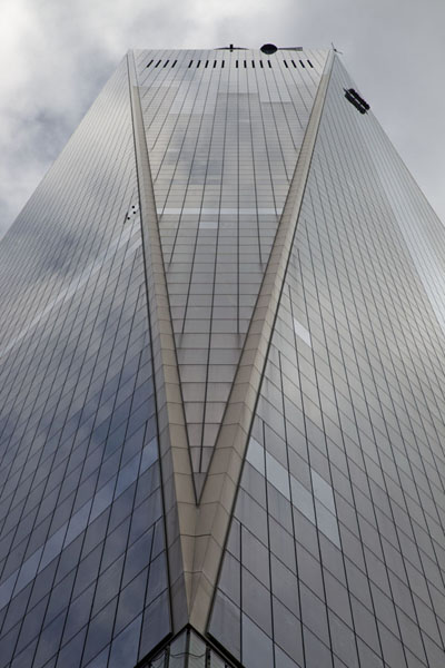 Close-up of one side of One WTC | One World Trade Center | U.S.A.