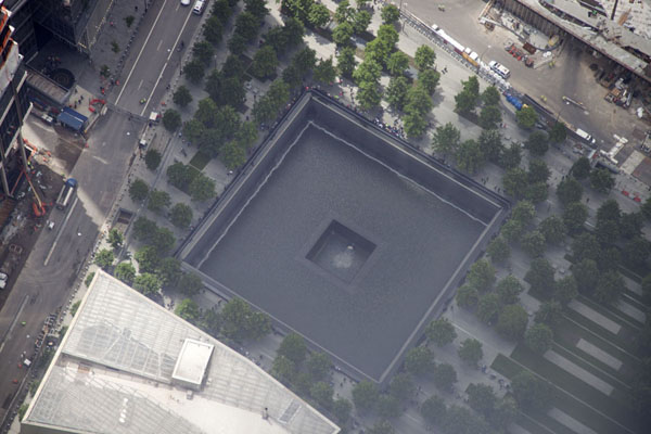 The square footprint of the South Tower of the Twin Towers | One World Trade Center | U.S.A.