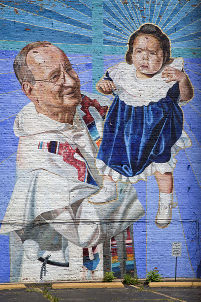 Religious mural at a parking lot in Pilsen芝加哥 - 美国