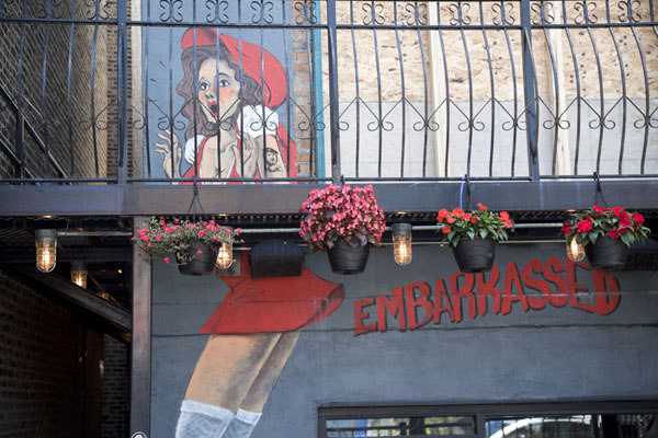 Mural at a restaurant/bar in Pilsen | Pilsen Murals | U.S.A.