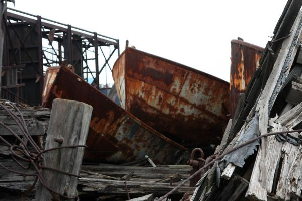 Picture of Rossville Boatyard (United States): Small rusty boats at Rossville