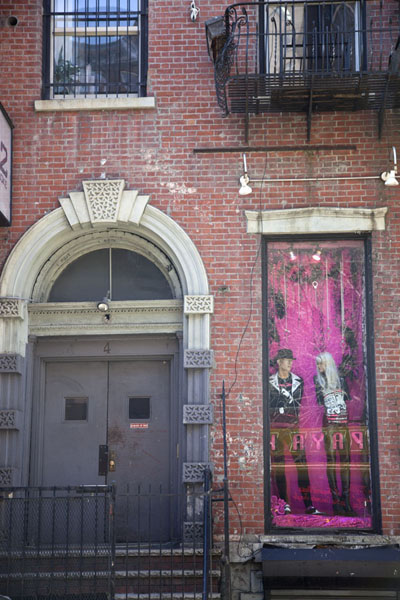 Hamilton-Holly House, a New York landmark, which houses theaters and a punk clothing shop | Saint Marks Place | U.S.A.