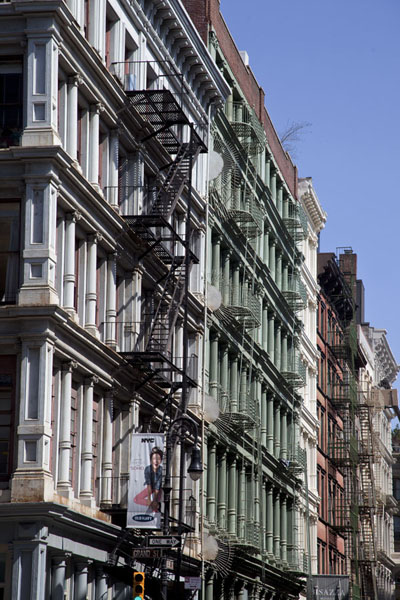 Row of houses in a street in Soho | Soho | U.S.A.