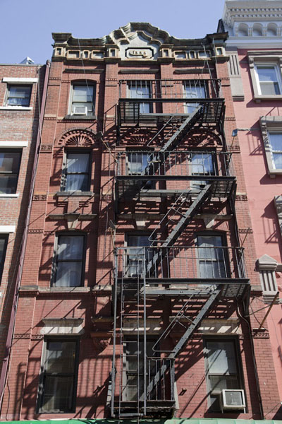 Five-storey building with stairs in Soho | Soho | U.S.A.
